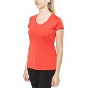 Nike Miler Hardloopshirt korte mouwen Dames V-Neck rood XS 2016 Hardloopshirts