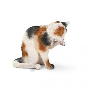 Schleich Grooming Cat Toy Figure