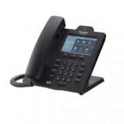 "VoIP телефон Panasonic KX-HDV430, 4.3"" (10.92 cm) цветен LCD сензорен дисплей, Bluetooth 2.1, 16 линии, PoE, 2x LAN1000, HD Voice, връзка с IP камера, черен"