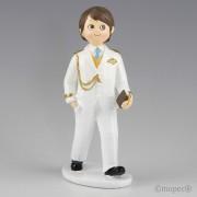Figura para pastel Comunión Almirante blanco