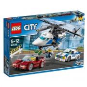 Lego City Perseguição a alta velocidade em helicóptero 60138multicolor- TAMANHO ÚNICO