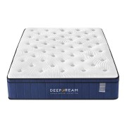 Sleep Happy Premium Eurotop 5 Zoned Cool Gel Memory Foam Mattress 34cm - King Single