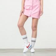 Lazy OAF Button Through Skirt Pink