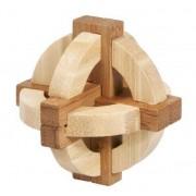 Joc logic IQ din lemn bambus in cutie metalica-1