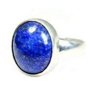 YogiGems 3.25 Ratti Certified Natural Lapis Lazuli Sterling Silver Simple Ring