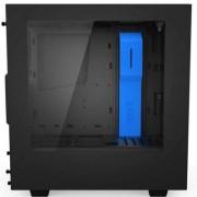 Кутия nzxt s340 black/blue + window mid tower, nzxt-case-s340mb-gb