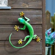Decoratiune metalica pentru perete Gecko-Smarald