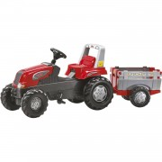 Rolly toys traptractor met aanhanger rollyjunior rt rood