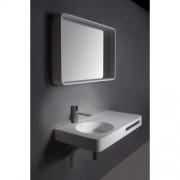 Badkamerspiegel Ideavit Solidtondo Rechthoek 90x60cm Solid Surface Mat Wit Lijst