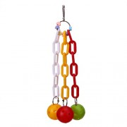 Rrimin Parrot Birds Toys Plaything Toy Plastic Chain Ball Pet Bird Accessories