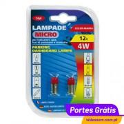 LAMPA - LÂMPADA 4W BA9s VERMELHA
