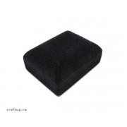 Cutie bijuterii catifea, dreptunghiulară, pentru colier - negru (set 10 buc)