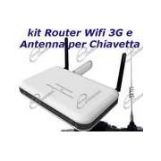 ANTENNA PER LA CHIAVETTA INTERNET HSDPA INSIEME A ROUTER 3G WIFI: