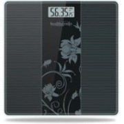 Healthgenie Electronic Digital Weighing Machine Bathroom Personal Weighing Scale, Max Weight : 180 Kgs. Weighing Scale(Black 93)