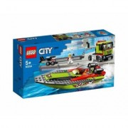 LEGO® City Great Vehicles 60254 Le transport du bateau de course