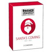 Secura Santa Coming - jahodové kondómy (3ks)