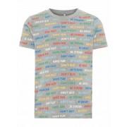 Name It! Jongens Shirt Korte Mouw - Maat 86 - All Over Print - Katoen/elasthan