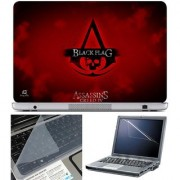 Finearts Laptop Skin Assassins Creed Iv Black Flag With Screen Guard And Key Protector - Size 15.6 Inch