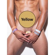 N2N Bodywear Tie Dye Cock Strap Yellow CS4