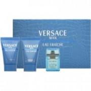 Gianni Versace Man Eau Fraiche 50 ml EDT + 50 ml ASB + 50 ml SG Pánská dárková sada