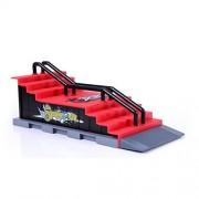 ELECTROPRIME® Mini Professional Fingerborad Ramps Park Finger Skate Board Fingerboard Ramp