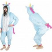 Costum Unicorn cu gluga pentru carnaval sau petreceri marime XL culoare Albastru