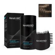 KeratinMD HAIR BUILDING FIBERS (Medium Brown) + FREE APPLICATOR COMB VALUE PACK