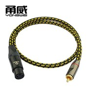 Happy Roam Professional Perfect Match RCA Lotus Transfer Card Peasant Audio line XLR XLR Amplifier Sound Card Microphone Cable Mixer line Perfectly Match (Size : 3M)