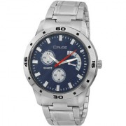 Crude Analog Blue Dial Watch-rg476 With Stainless Steel Strap For Men's Boy's