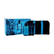 Davidoff Cool Water confezione regalo eau de toilette 125 ml + balsamo dopobarba 75 ml + doccia gel 75 ml + trousse per uomo