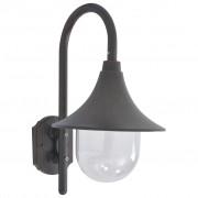 vidaXL Záhradná nástenná lampa E27 42 cm hliníková bronzová