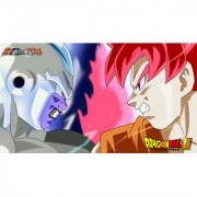 frost vs goku sticker poster|dragon ball z poster|anime poster|size:12x18 inch|multicolor