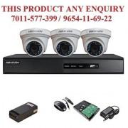 Hikvision 2 MP Turbo 4CH DVR + Hikvision HDTVI Dome Camera 3pcs + 1TB HDD + Power supply (Full