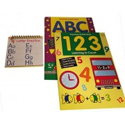 Dry Erase Book with 2 Preschool Activity Books. ABC Learning Fun
