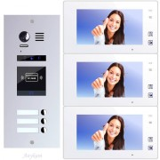 Anykam ES3ID+ DT47M-W Video Türsprechanlage Videosprechanlage 3-Familienhaus 2Draht