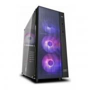 Carcasa Deepcool Matrexx 55 Mesh ADD-RGB 4F, Middle Tower, Tempered Glass (Negru)