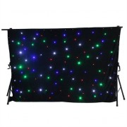 BeamZ SparkleWall LED Curtain LED RGBW 96 3 x 2 m incl. Remote Control Controller