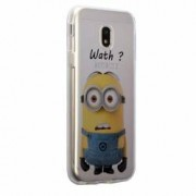 Husa Silicon Transparent Slim Minion Whaaat Motorola MOTO C Plus