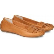 Clarks Natala Pearl Tan Nubuck Boat Shoes For Women(Brown)