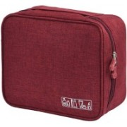 House of Quirk Portable Travel Toiletry Bag Multi-Purpose Makeup Organizer Waterproof Cosmetic Case - Red Travel Toiletry Kit(Red)