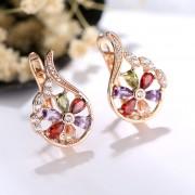 American Diamond Crystal Stone Studded Hoop earrings Buy Designer Jewellery Earrings online