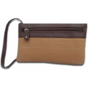 Kan Brown and Tan Premium Quality Leather Travel Organizer For Women(Multicolor)