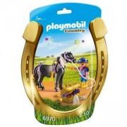 Комплект Плеймобил - Ездач с пони със звезди, Playmobil, 2900183