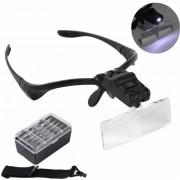 Lupa Lentes Goggle Con Luz Led Y 5 Aumentos Cejas Microblading Lahistas Reparacion Celulares