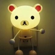 Skywalk Led Light Sensor Control Kt Kitty Panda Cartoon Baby Night Light Decor Mini Wall Lamp