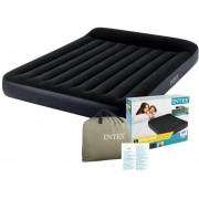 Colchon Clasico Inflable Queen Size Azul Dura-Beam Intex
