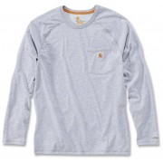 Carhartt Force Cotton Camisa de manga larga Gris Claro L