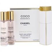 Chanel Coco Mademoiselle eau de parfum para mujer 3x20 ml (1x recargable + 2x recarga)