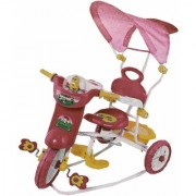 Oh Baby Baby Bike Musical With Tubeless Tyre 3 In 1 Function Red Color Tricycle For Your Kids SE-TC-32