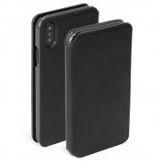 Krusell Pixbo 4 Card Slim Wallet Case - кожен калъф, тип портфейл за iPhone XS, iPhone X (черен)